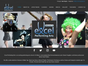 Excel Performing Arts WordPress Design